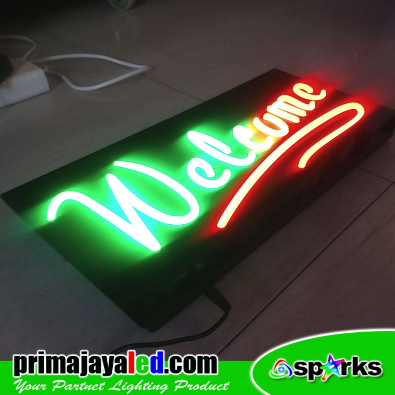 Lampu LED Sign Welcome Flexible